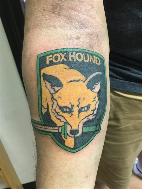 foxhound tattoo a tbt to when my and i got our fox and