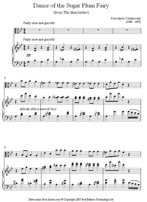 Of The Sugar Plumb by Tchaikovsky Of The Sugar Plum From The