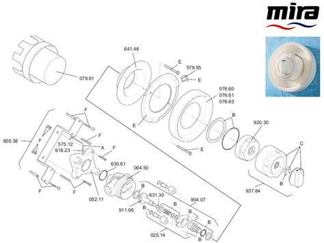 Mira Shower Spare Parts by Mira 88 B Shower Spares And Parts Mira 88 B National
