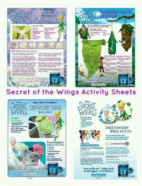 secret activity 168 best images about idees vir tinkerbell secret of the