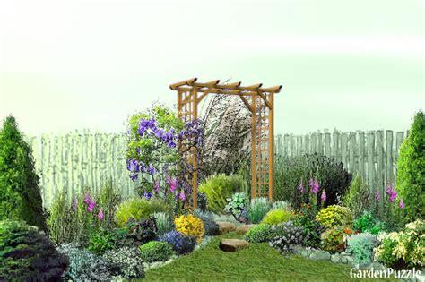 Backyard Corner Gardenpuzzle Online Garden Planning Tool Corner Garden Design