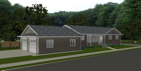 Ranch Style House Plans By Edesignsplans Ca 8 Bungalow House Plans With Garage In Back