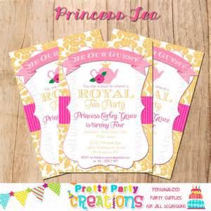 princess tea invitation template free princess tea invitation you print