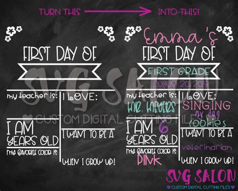 Day Of School Sign Template by Day Of School Sign Template Image Collections