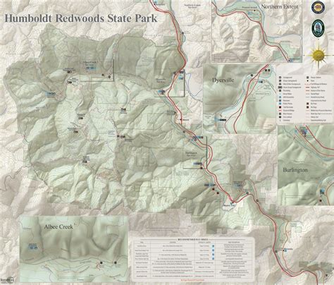 map humboldt redwoods interpretive association