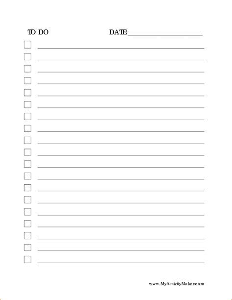 list template pdf 4 to do list pdf teknoswitch