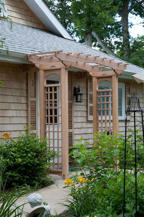 Patio Cover Attached To Roof Cedar Entry Arbor West Hartford Ct Bailey Carpentry