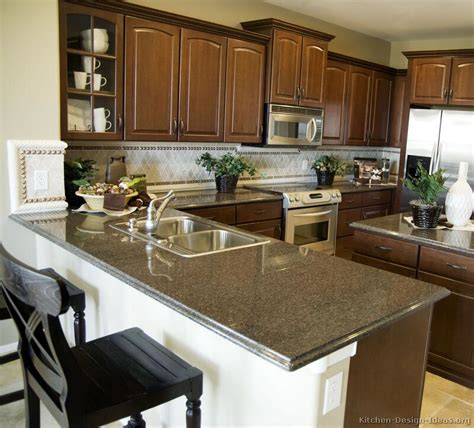 Kitchen Peninsula Ideas Pictures Of Kitchens Traditional Wood Kitchens Walnut Color Page 2