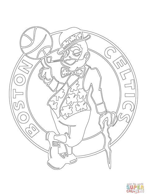celtics basketball coloring pages boston celtics logo coloring page free printable