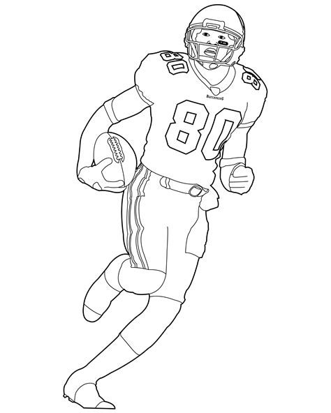 coloring page of a football player football coloring pages bestofcoloring com