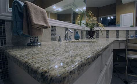 Giallo Ornamental Light Granite White Cabinets by Giallo Ornamental Granite