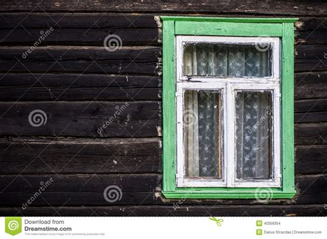 rustic green rustic green painted wood frame window stock photo image