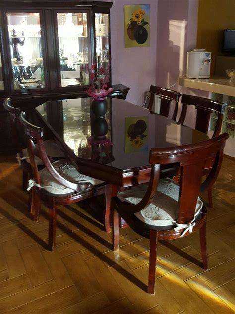 comedor  vitrina madera  sillas  en mercado libre