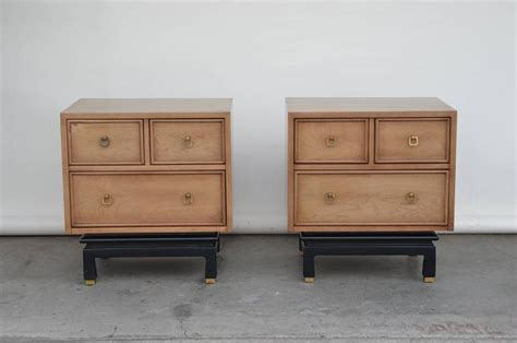 bleached oak bedroom furniture pair of bleached oak nightstands by american of martinsville for sale at 1stdibs