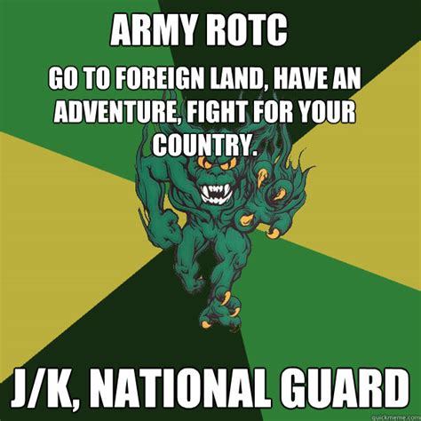 National Guard Memes - a j green