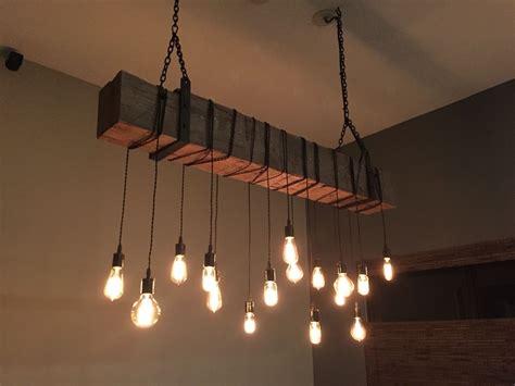 modern industrial light fixture custom made reclaimed barn beam chandelier light fixture