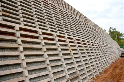 Concrete Crib Retaining Wall by Concrete Crib Walls Gravity Retaining Walls Concrib