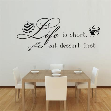 dessert vinyl wall quotes kitchen wall stickers