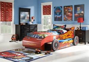 Lightning Mcqueen Car Bed With Trundle Disney Cars Lightning Mcqueen 5 Pc Bed W Trundle