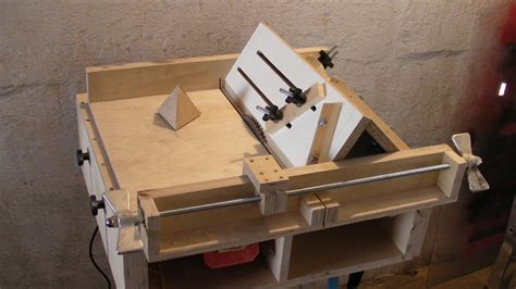 build a table saw bench homemade table saw sledge part 4 jig to build