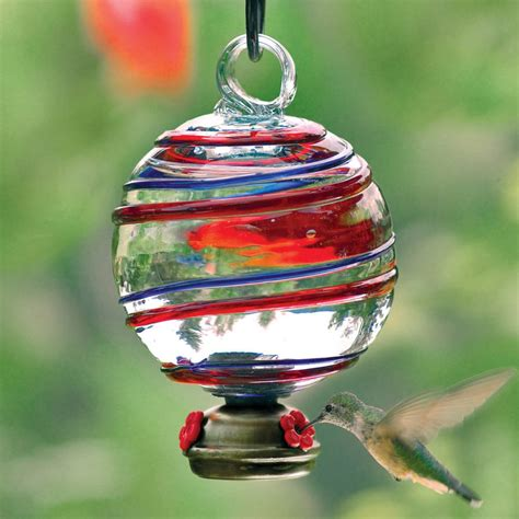 hummingbird feeders here s a beautiful ornamental glass