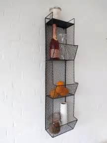 kitchen wall shelf wire