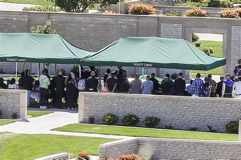 general views  nipsey hussles funeral service  forest