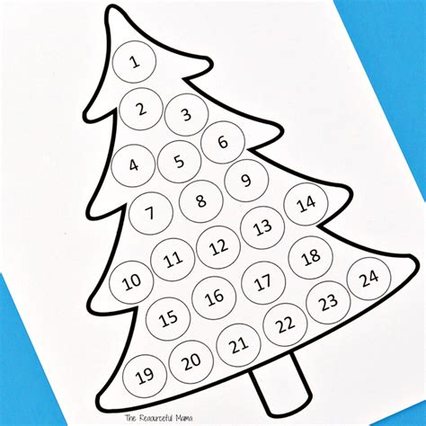 christmas tree countdown coloring page christmas countdown advent calendar the resourceful mama