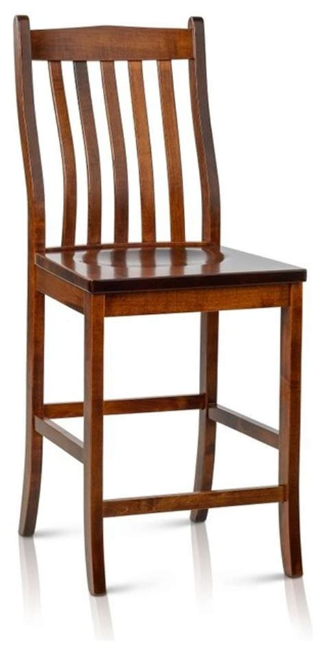 Solid Maple Bar Stools by Solid Maple Wood Counter Height Bar Stool Transitional