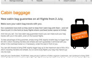 easyjet change their luggage slightly from