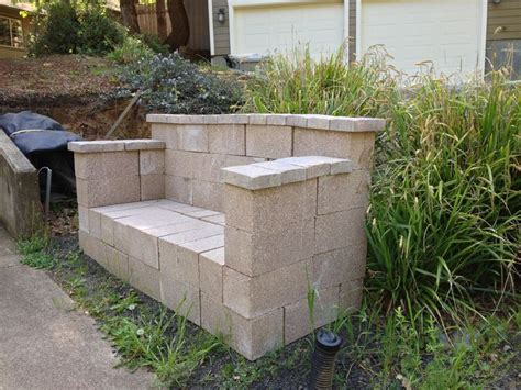 cheap concrete benches cinder block bench cabin in the woods pinterest to