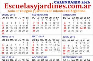 Calendario Argentina Feriados 2016 Argentina Almanaque Para Imprimir