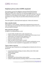 Data Protection Cipd Hr Inform Gdpr Privacy Notice Template