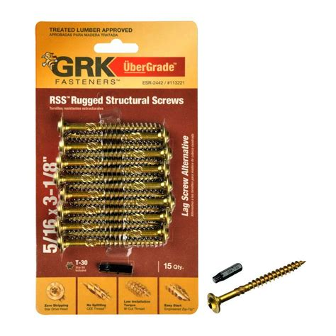 grk fasteners 8 in x 3 1 8 in low profile washer