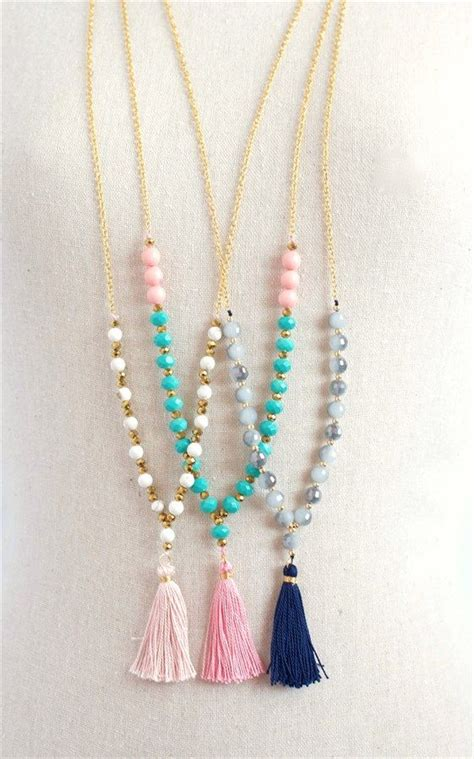 Tassel Necklace trendy beaded tassel necklaces 3 styles chang e 3