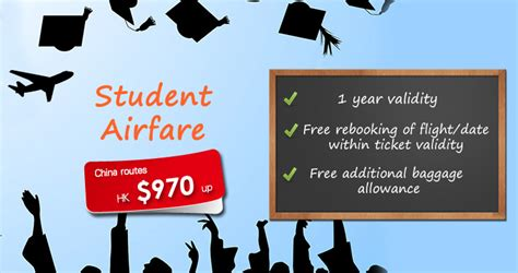 student special airfares china routes roundtrip tickets from only hk 970up golden promise