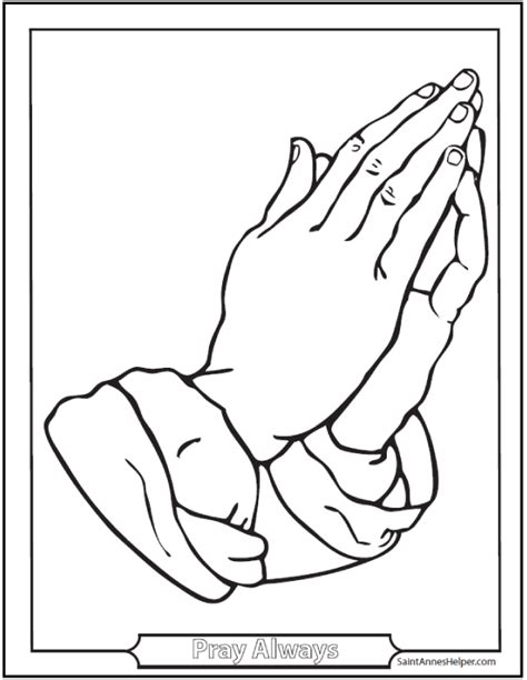 coloring page of praying hands printable praying hands coloring home