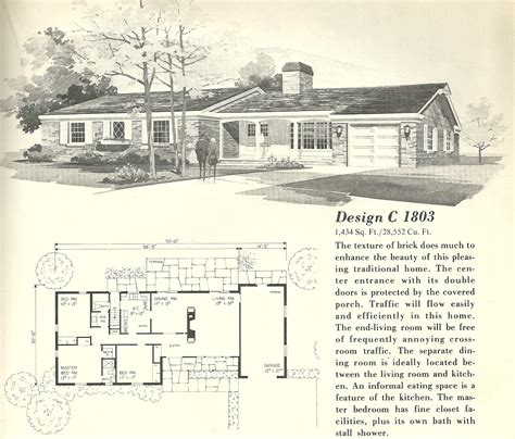 1960 house plans vintage house plans 1803 antique alter ego