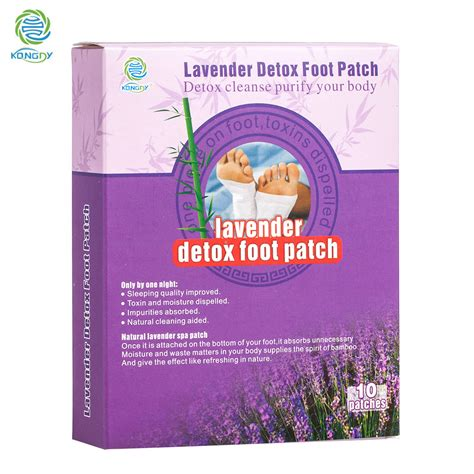 Do Lavender Detox Foot Patches Work by Kongdy New Arrival 10 Pieces Box Lavender Essential