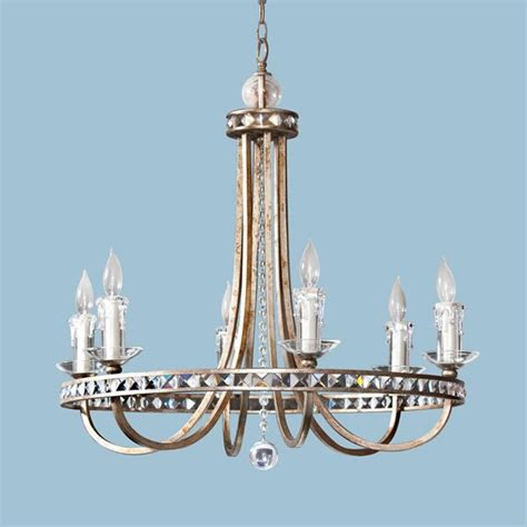 Faux Candle Chandelier Candice Aristocrat 8 X 60 Watt Light Chandelier Soft Gold With Prisms And Faux