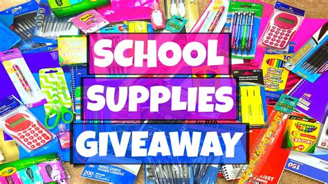 School Supply Giveaway - huge back to school supplies giveaway 2016 youtube