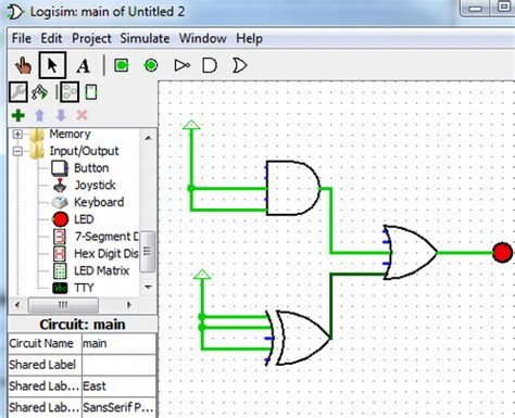 logic gate drawing tool logisim simulate digital logic circuits