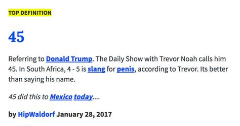 donald trump urban dictionary the 45 know your meme