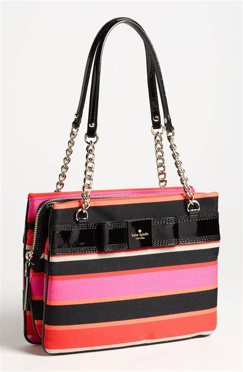 kate spade kate spade primrose hill stripe zip darcy shoulder bag in multicolor vivid snapdragon lyst