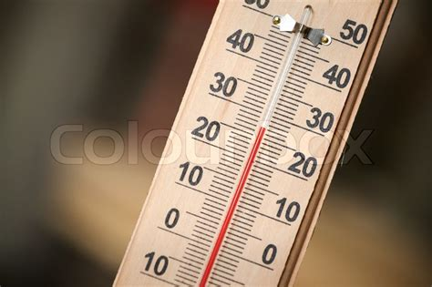what is comfortable room temperature in celsius closeup photo of household alcohol thermometer showing