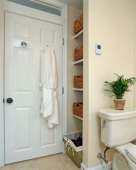 behind bathroom door storage 6 diy bathroom storage tricks