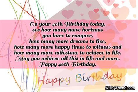 Happy 40th Birthday Wishes 40th Birthday Wishes