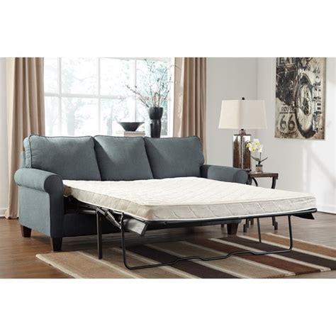 ashley zeth sofa sleeper ashley zeth fabric queen size sleeper sofa in denim 2710139
