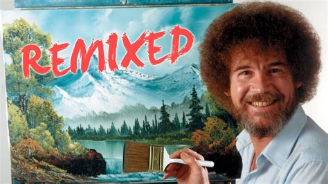 pbs bob ross painting auction bob ross remixed happy clouds pbs digital