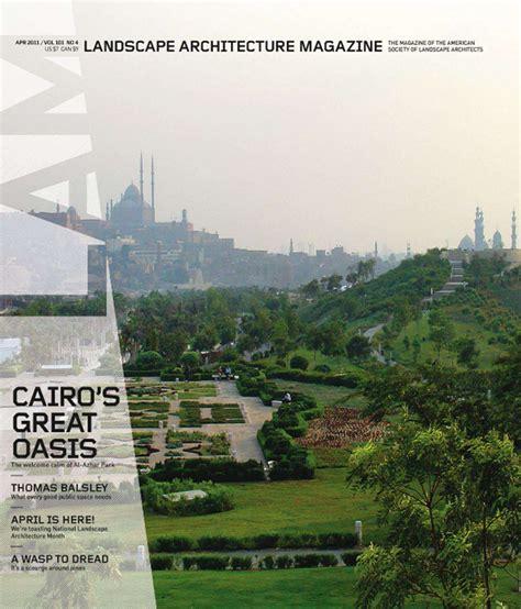 Landscape Architecture Magazine Zinio April Landscape Architecture Magazine Issue Paisaje Libre